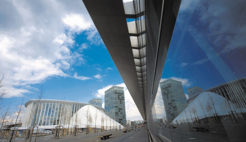 Architecture and art in public space in Kirchberg, Luxembourg